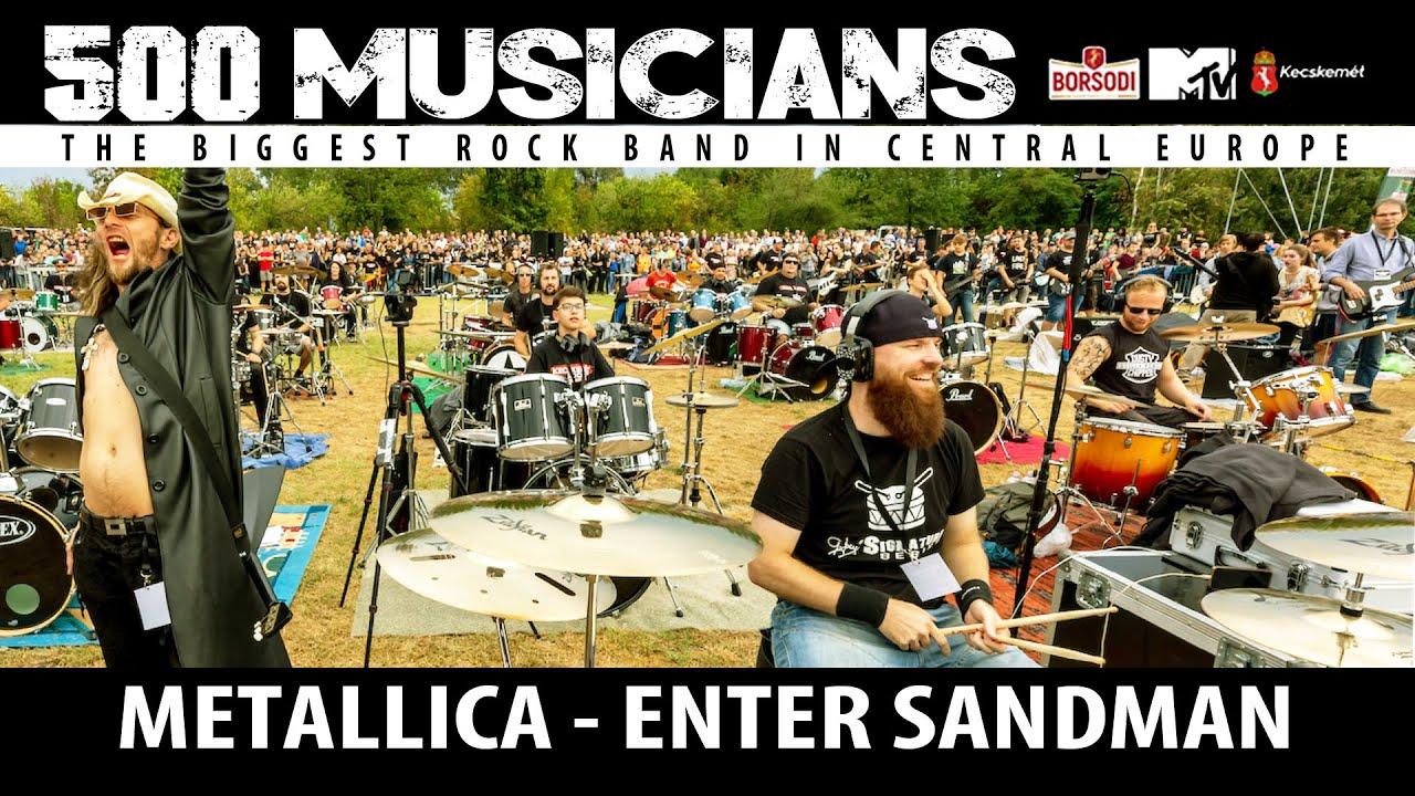 Metallica - Enter Sandman - 500 musicians rock flashmob - @CITYROCKS live cover (official)