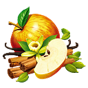 Besonders herbstlicher Apfel